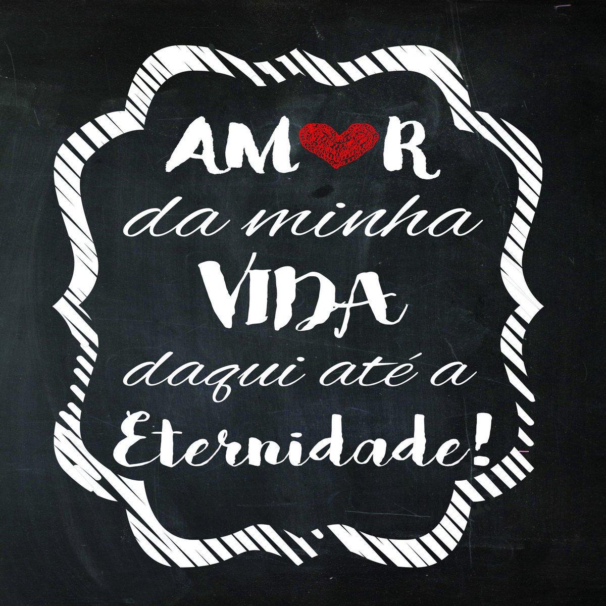 Placa Decorativa Frase Amor Da Minha Vida Daqui Até Kiaga