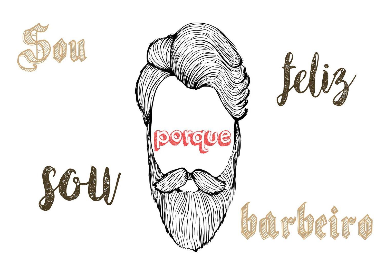 Placa Decorativa Frase Sou Feliz Porque Sou Barbeiro
