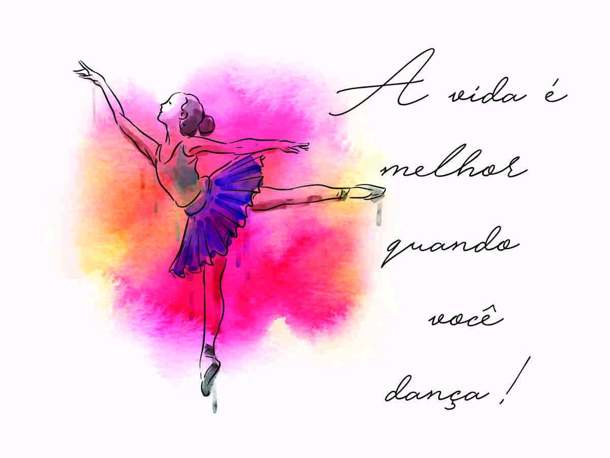 Placa Decorativa Frase A Vida é Melhor Quando Você Dança