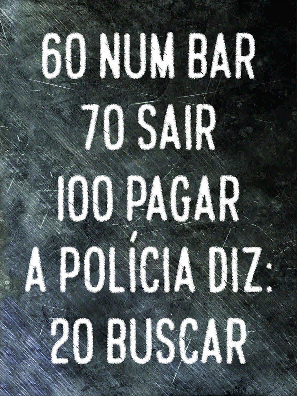 Placa Decorativa Frases De Boteco 60 Num Bar 70 Sair 100 Pagar A Polícia Diz 20 Buscar