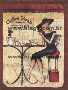 Placa Decorativa Coffee Bean