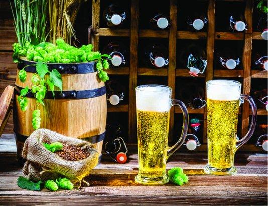 Placa Decorativa Barril Cerveja