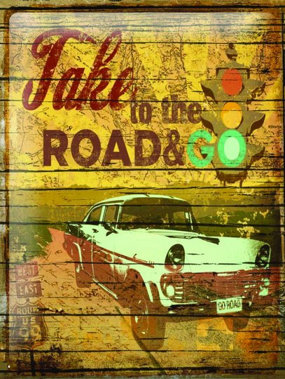 Placa Decorativa Take to The Road & Go