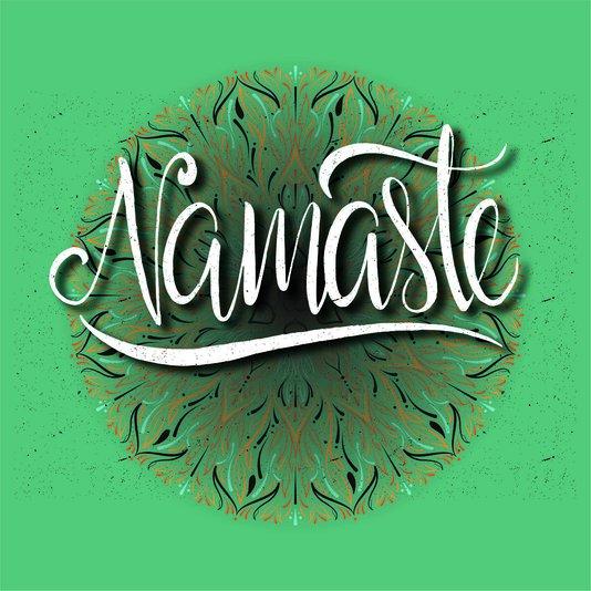 "Placa Decorativa Frase: ""Namastê"" Hinduista"