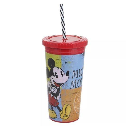 Copo Canudo Malibu Mickey Mouse - ZONACRIATIVA