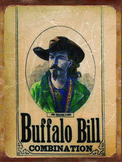 Placa Decorativa Western Buffalo Bill