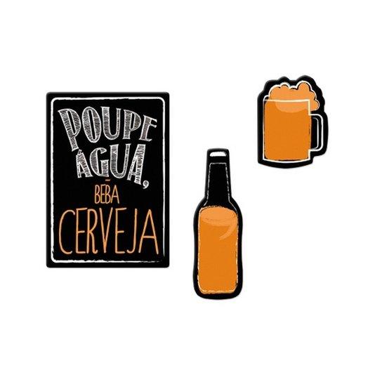 Fixador de Lembretes Cerveja  - Poupe Água beba cerveja - Geguton