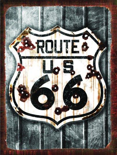 Placa Decorativa Route 66