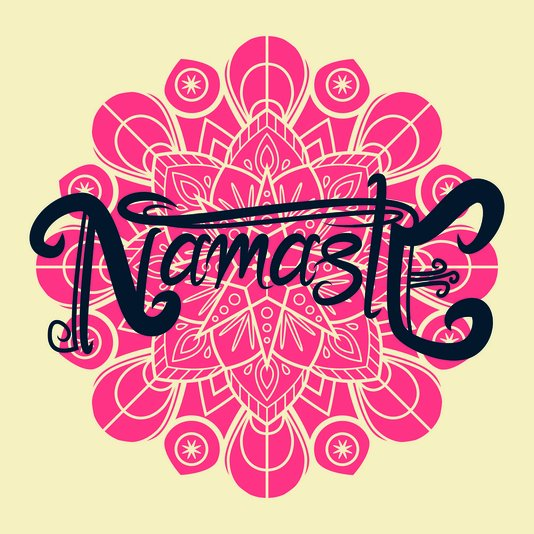 """Placa Decorativa Frase: """"Namastê"""" Mandala"""