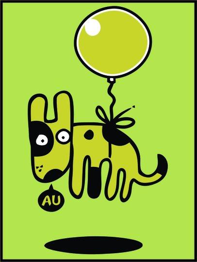 Placa Decorativa Cãozinho Fofo