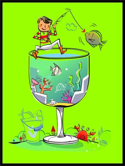 Placa Decorativa Infantil Menino Pescando