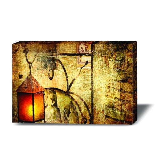 Quadro Painel em Tecido Canvas Luminária Vintage