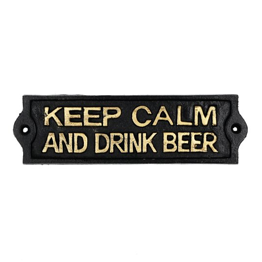 Placa de Ferro Keep Calm and Drink Beer - URBAN