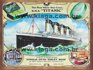 Placa Decorativa The New White Star Liner Titanic