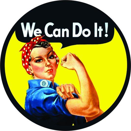 Placa Decorativa Redonda We Can do It!
