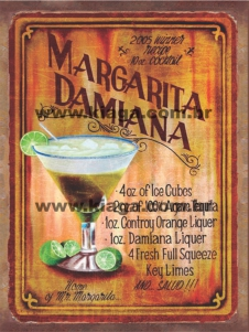 Placa Decorativa Margarita Damiana