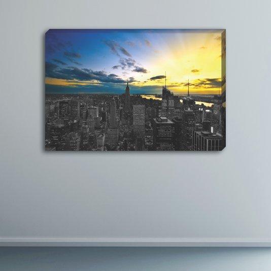 Quadro Painel em Tecido Canvas Paisagem New York City