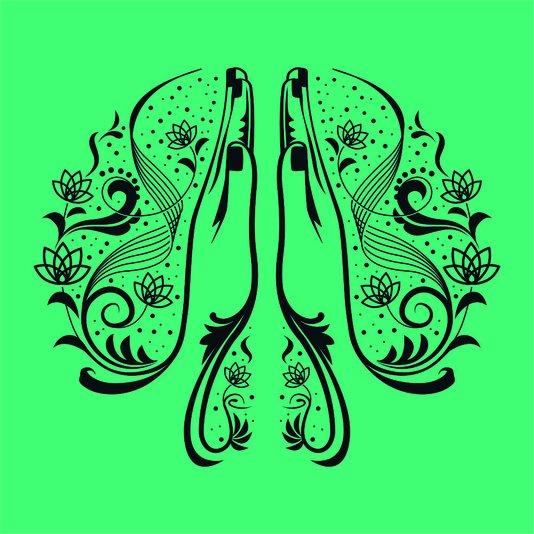Placa Decorativa Mãos Fazendo O Gesto Da Paz