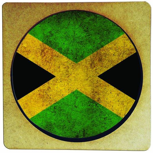 Porta Copo em MDF Bandeira da Jamaica