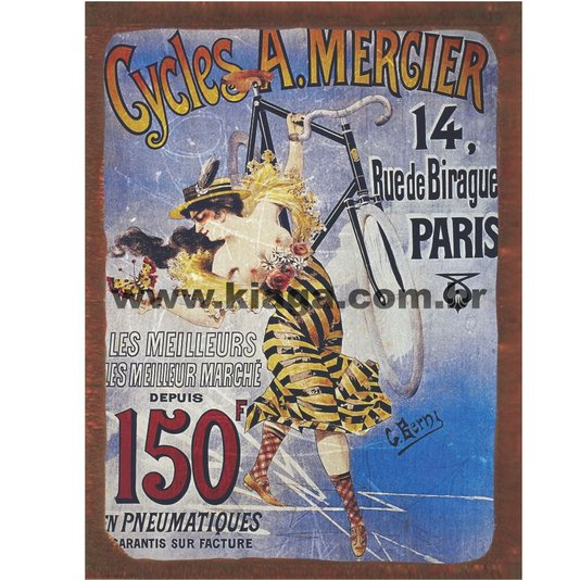 Placa Decorativa Cycles & Automobiles A. Mergier