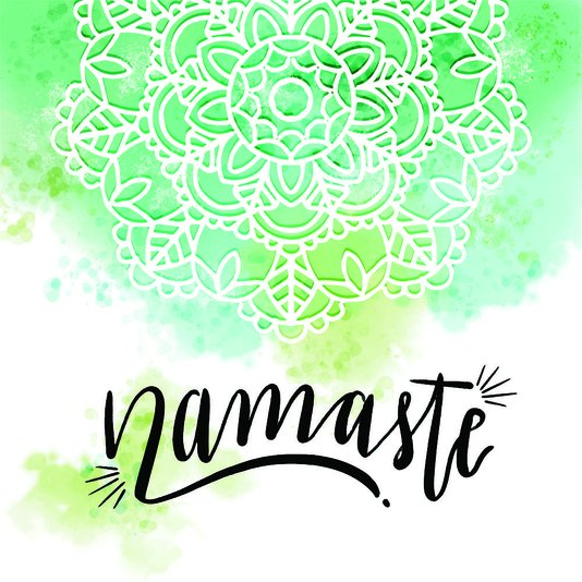 "Placa Decorativa Frase: ""Namastê"" Colorido"