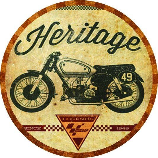 Placa Decorativa Redonda Heritage