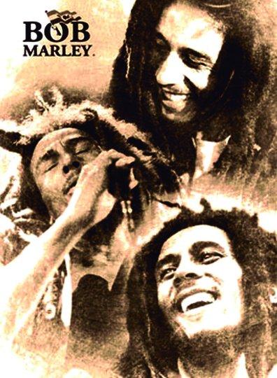 Placa Decorativa Bob Marley vintage