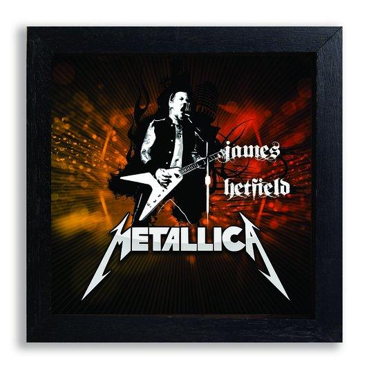 Quadro Decorativo Vocalista James Hetfield Banda Metalica