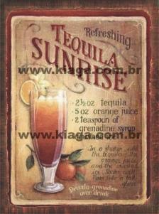 Placa Decorativa Tequila Sunrise