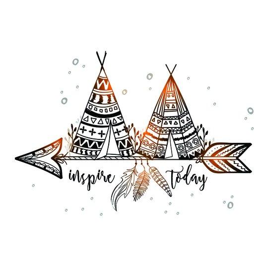 "Placa Decorativa Frase: ""Inspire Today"""