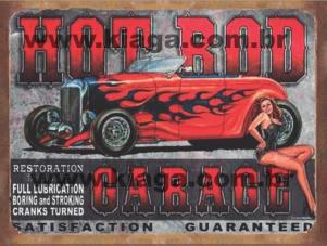 Placa Decorativa Hot Rod Garage