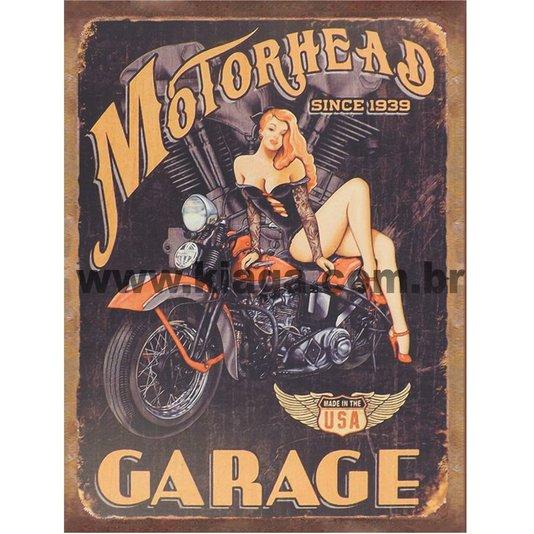 Placa Decorativa Motorhead Since 1939 Garage USA
