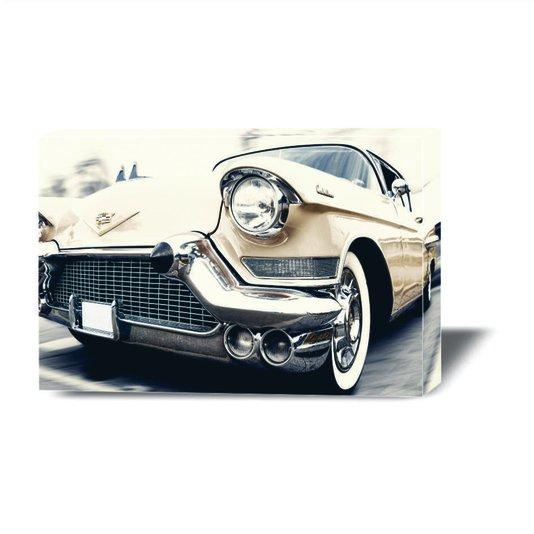 Quadro Painel em Tecido Canvas Vintage Cadillac Antigo