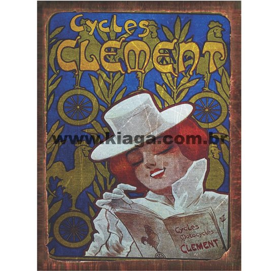 Placa Decorativa Vintage Cycle Clement