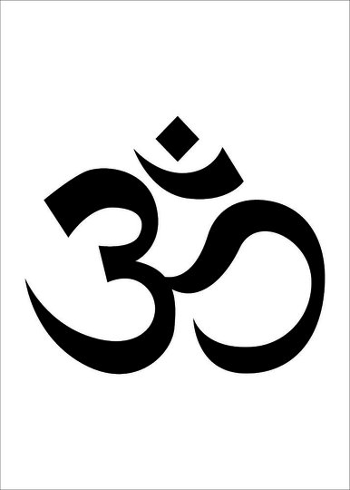 Placa Decorativa Simbolo do Hinduismo