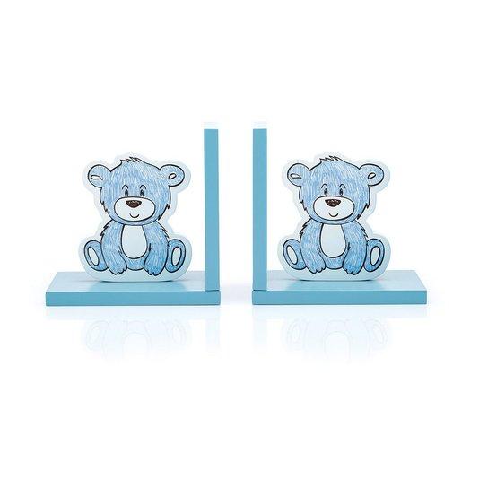 Aparador de Livros Urso Baby-Azul