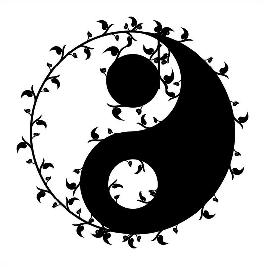 Placa Decorativa Símbolo Yin Yang