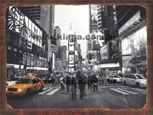 Placa Decorativa Transito Nova Iorque