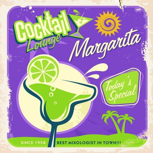 Placa Decorativa Cocktail Lounge