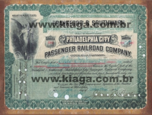 Placa Decorativa Vintage Frankford & Southwark Philadelphia City