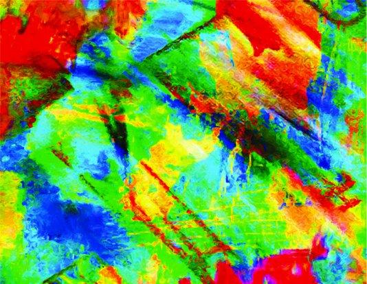Placa Decorativa Cores Abstratas