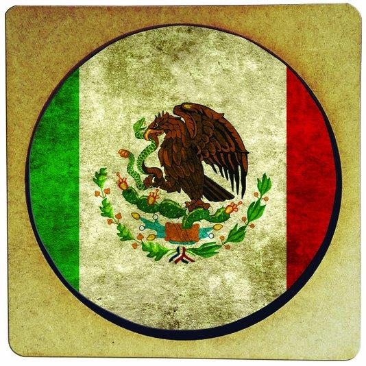 Porta Copo em MDF Bandeira do México