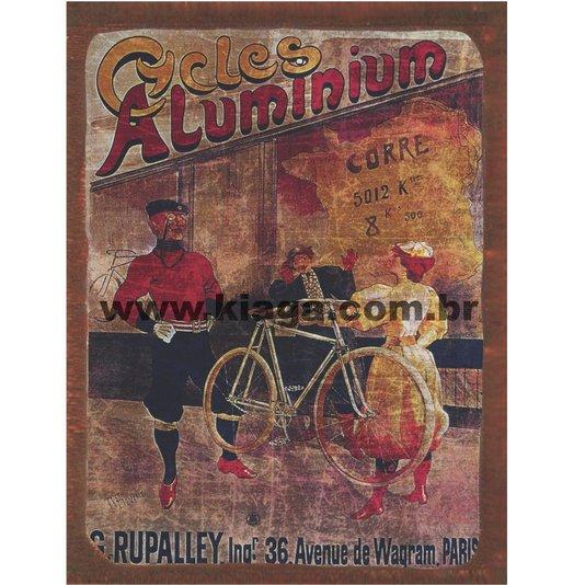 Placa Decorativa Bicicleta Cycles Aluminium