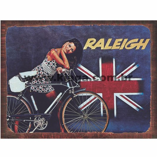 Placa Decorativa Bicicleta Vintage Raleigh
