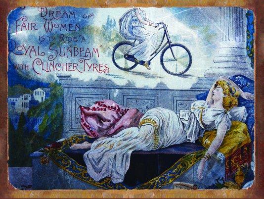 Placa Decorativa Bicicleta Vintage