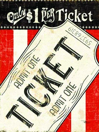 Placa Decorativa Ticket