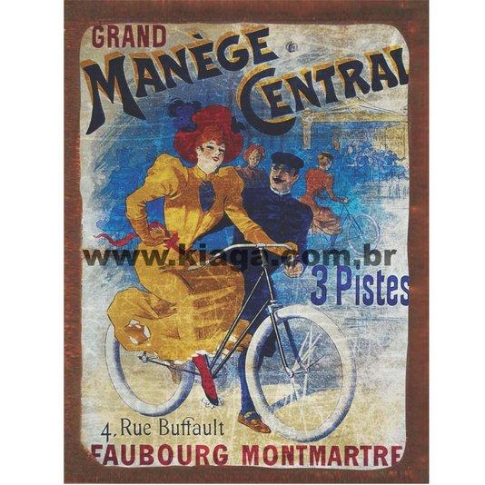 Placa Decorativa Bicicleta Manège Central