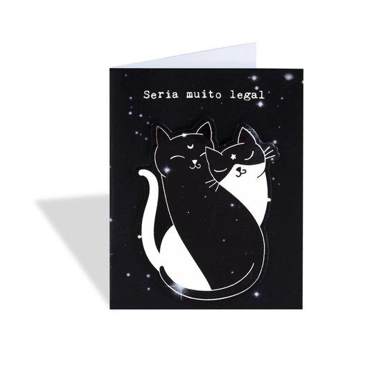 Super Ímã e Cartão - Gatos - Muito Legal - GEGUTON
