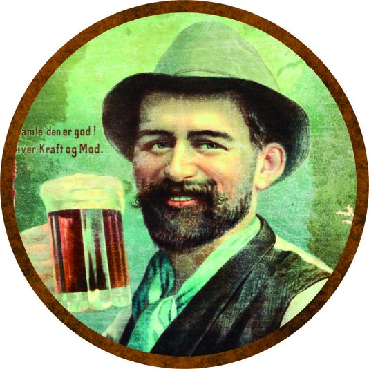 Placa Decorativa Redonda Beer