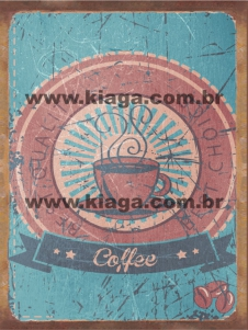 Placa Decorativa Publicidade Antiga Coffee